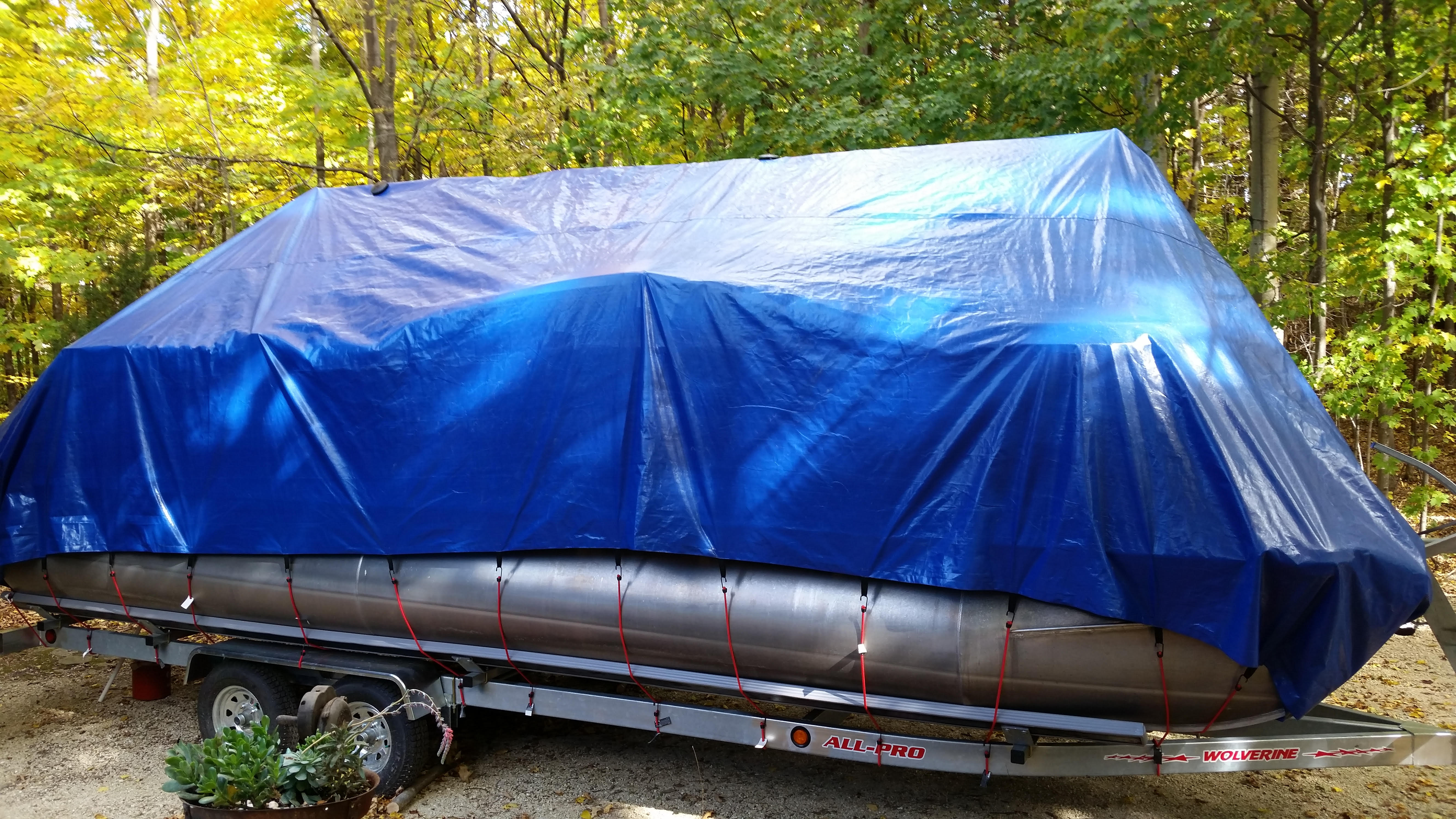Plattoon Boat Covers : ′ pontoon boat winter cover