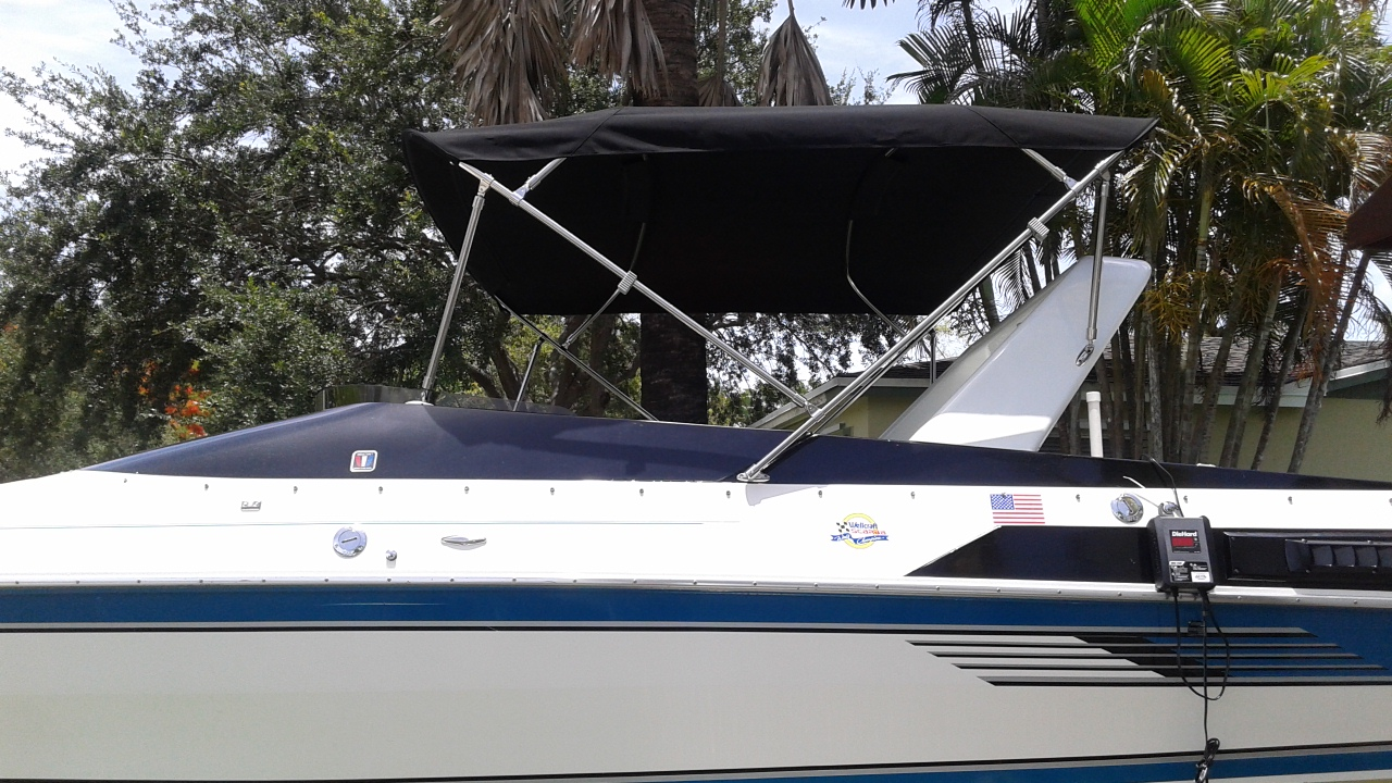 7ft 6 In Bimini Top With Stainless Steel Frame