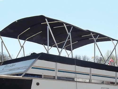 15ft Long House Boat Bimini Top With Frame