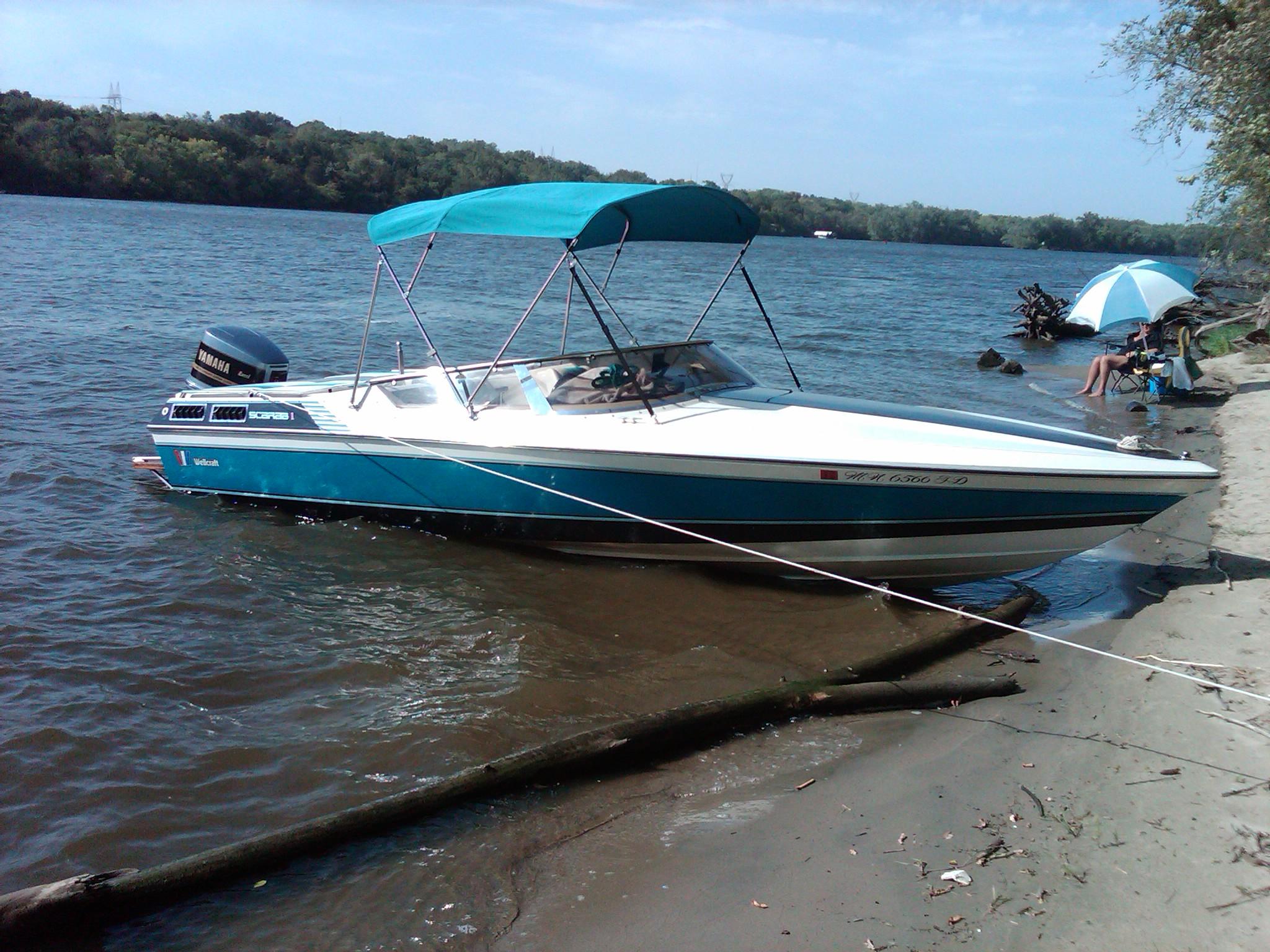 6ft Bimini Top with Stainless Steel Frame