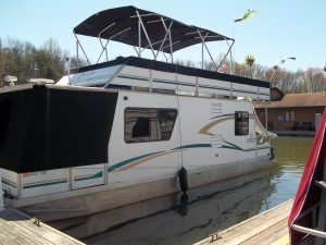House Boat Bimini Tops