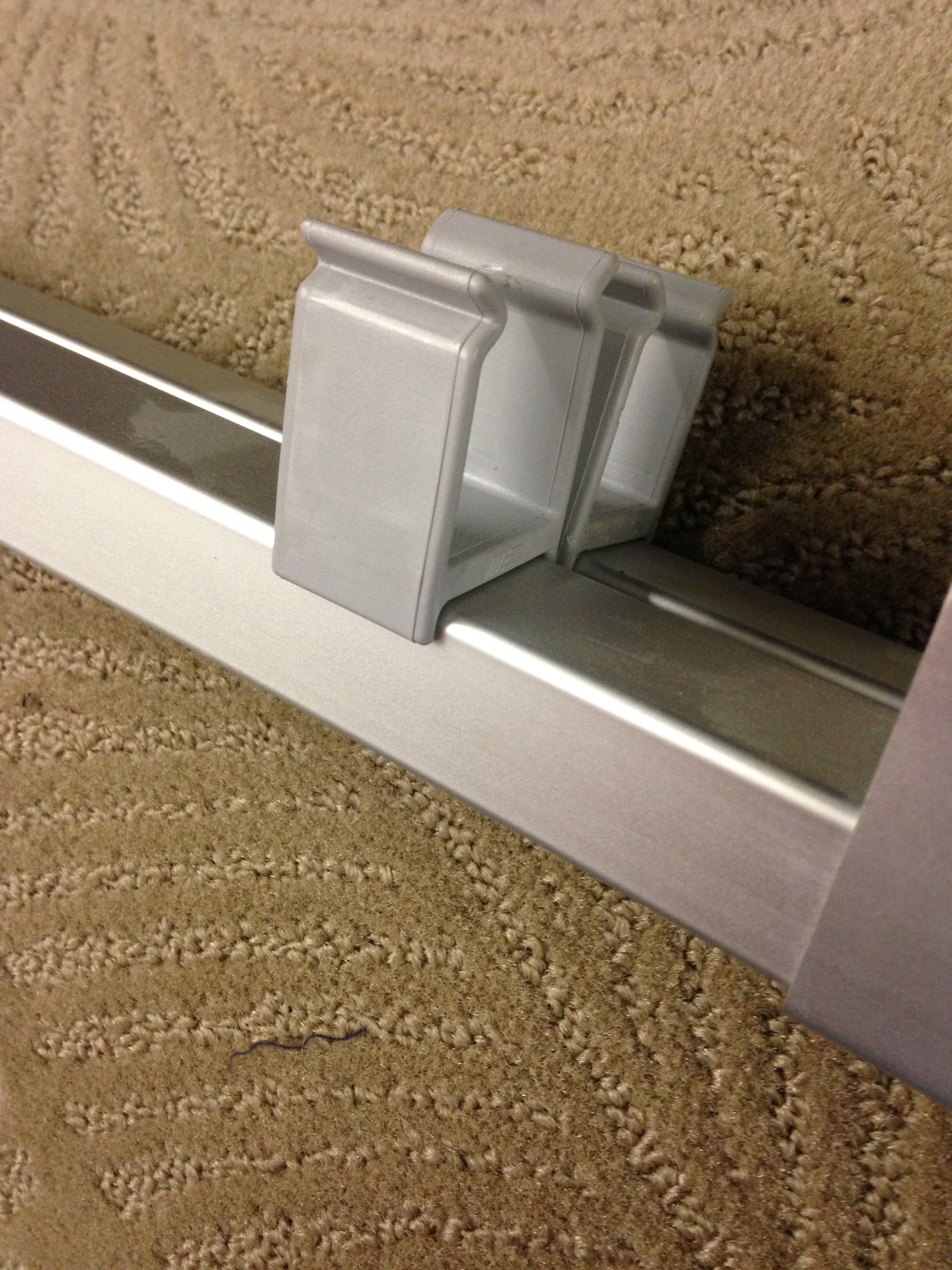 1 Square Tube Grey Clip Pair