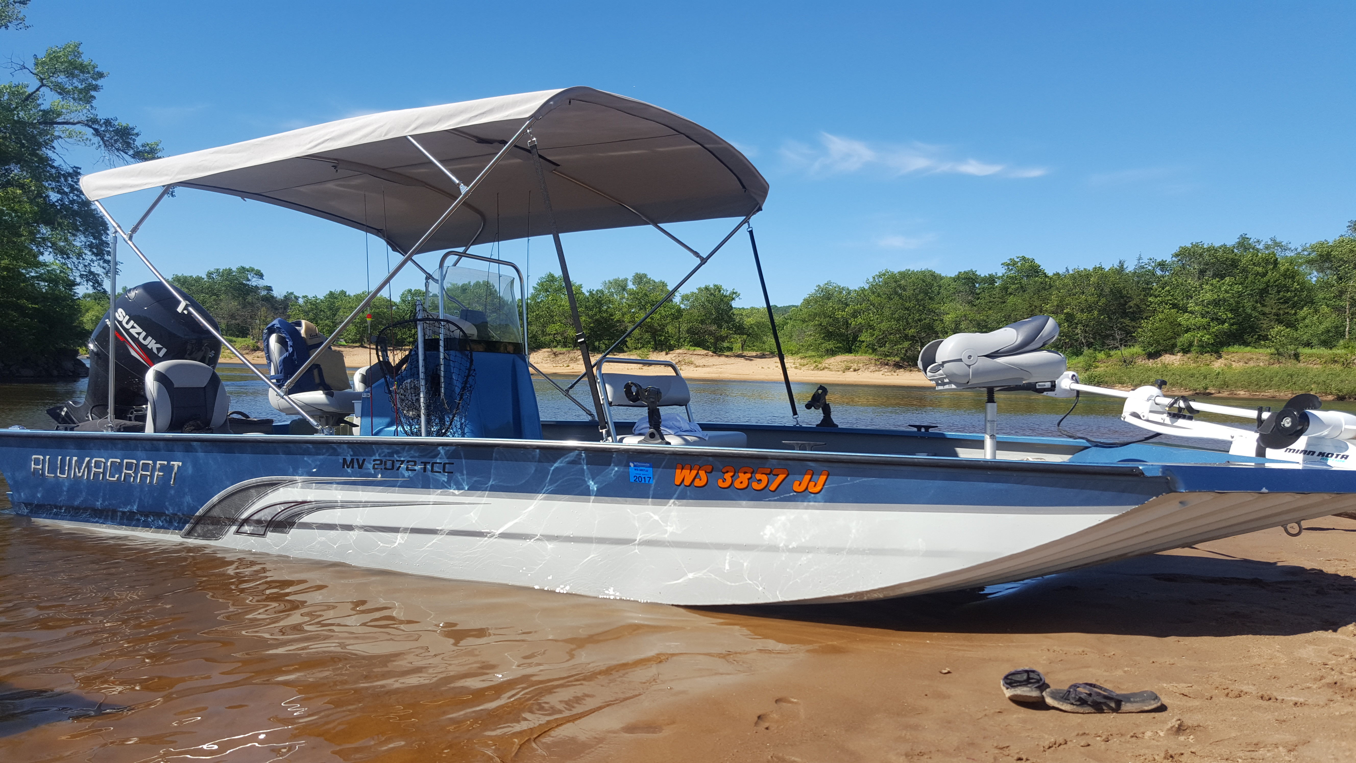 8ft Long Bimini Top with Stainless Frame