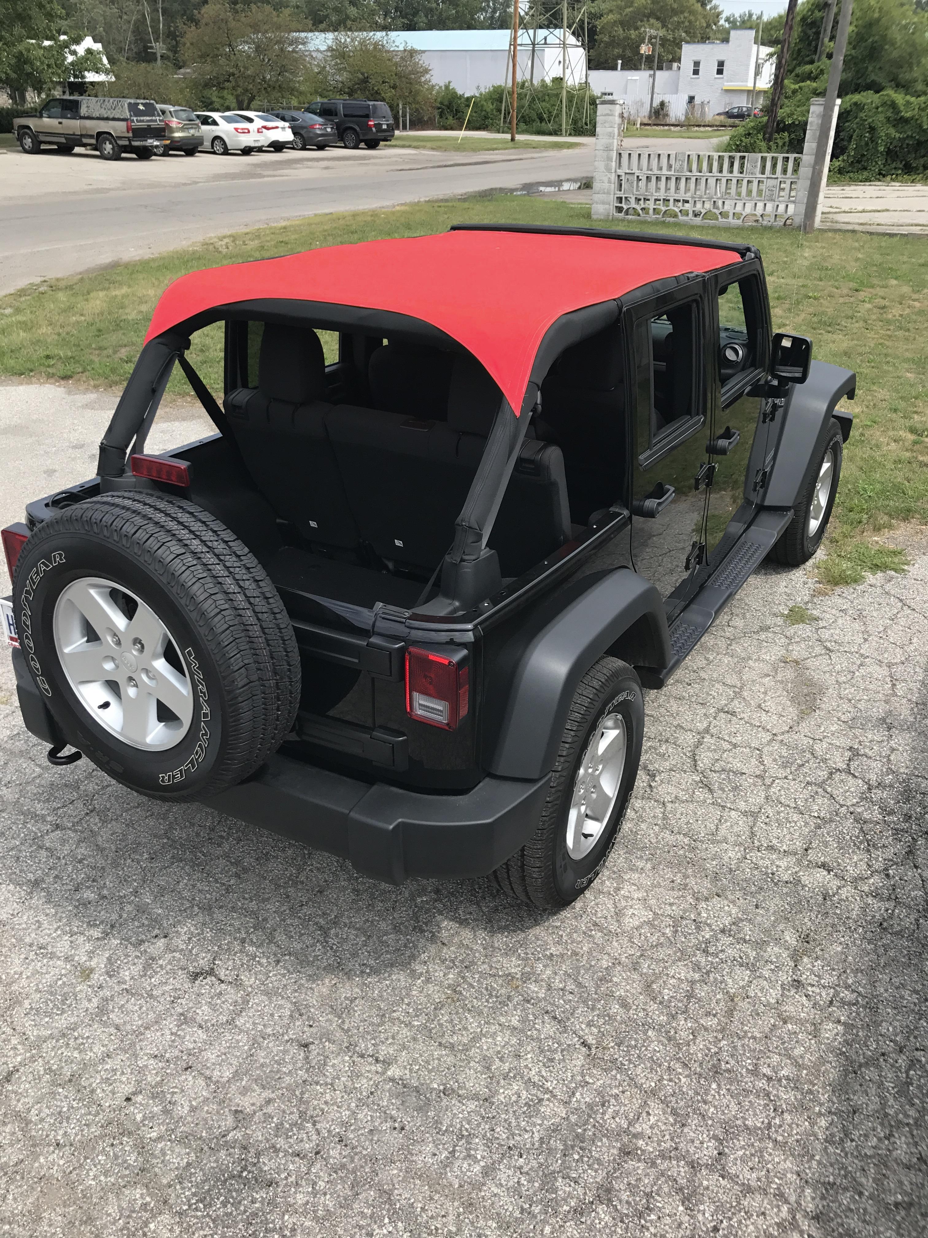 Jeep Wrangler Sun Top – Sunbrella Fabric